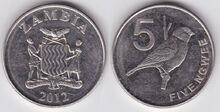 Zambia 5 ngwee 2012