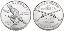 2012 $1 Infantry coin