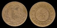 Denmark ½ Rigsmontskilling 1857