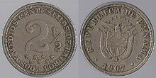 Panama 2½ centesimos 1907