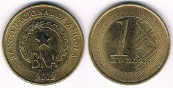 Angola 1 kwanza 2012