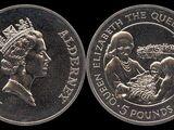 Alderney 5 pound coin