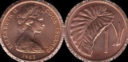 Cook Islands 1 tene 1983