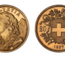 Swiss 20 franc coin