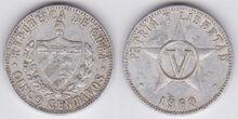 Cuba 5 centavos 1968