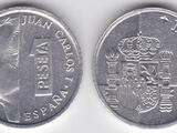 Spanish 1 peseta coin