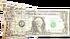 Torn and cut dollar