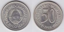 Yugoslavia 50 dinara 1988