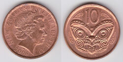 New Zealand 10 cents 2006