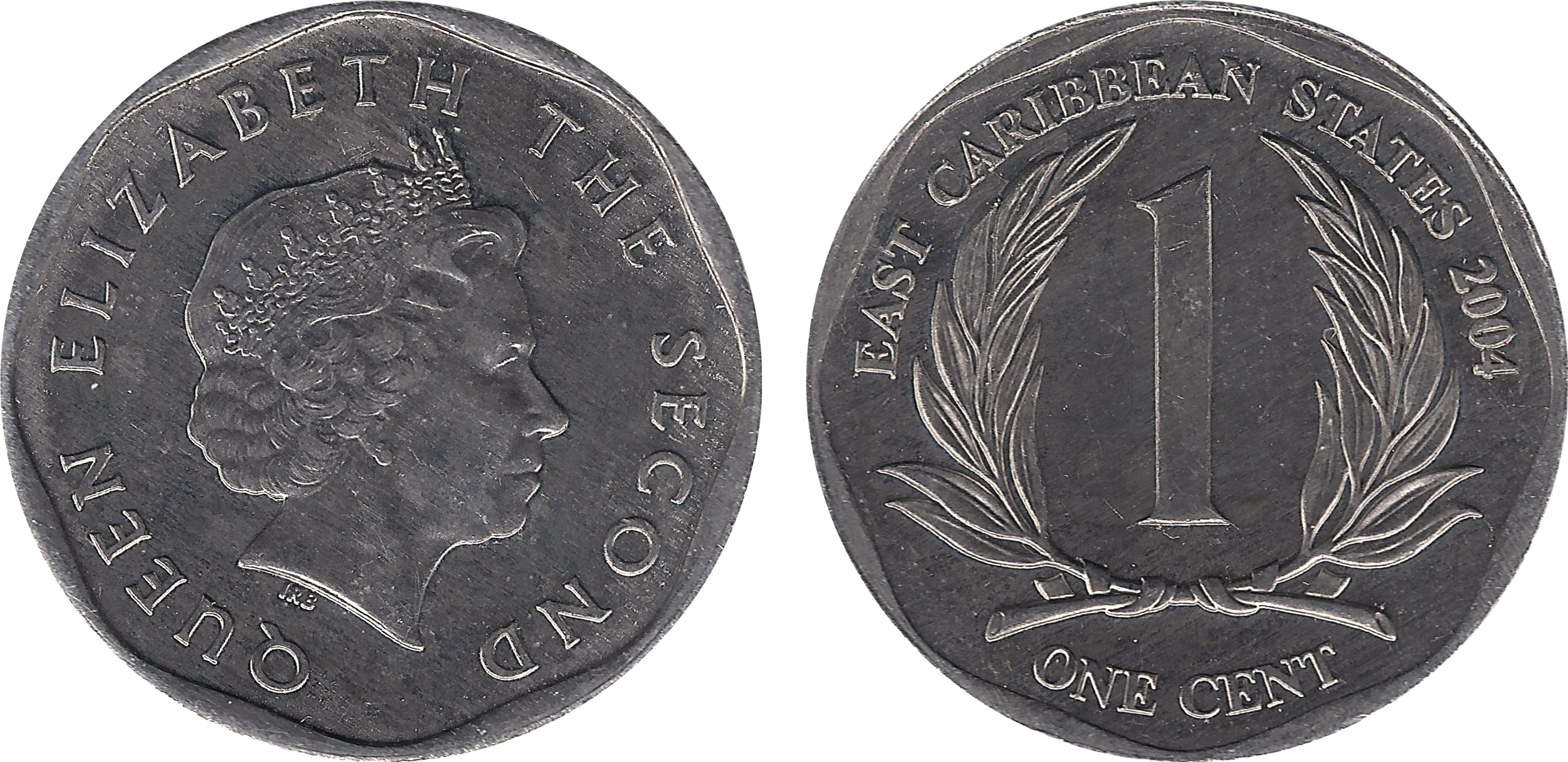 1 /& 5 CENTS BOTH 2002 2 NICE COINS from the EAST CARIBBEAN STATES