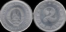 Yugoslavia 2 dinara 1953
