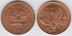 Papua New Guinea toea 1987