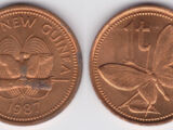 Papua New Guinean 1 toea coin