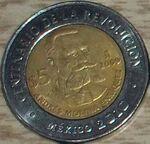 Andres Molina Enriquez 5 peso coin 2009