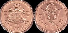 Barbados 1 cent 1974