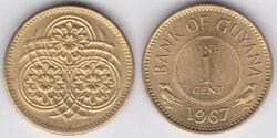 Guyana 1 cent 1967