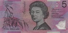 Australia 5 dollars 2002 obv
