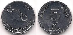 Maldives 5 laari 2012