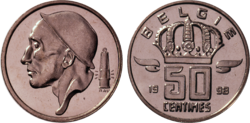 Coin BE 50c Miner NL 78