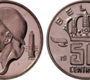 Belgian 50 centime coin (1952–2001)