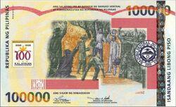 Philippine 100000peso note