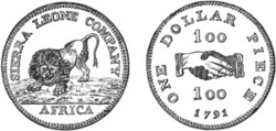 Sierra Leone dollar 1791 drawing