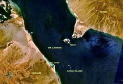 Bab el Mandeb NASA with description