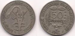 West Africa 50 francs 1987