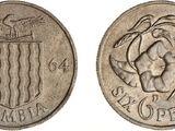 Zambian 6 pence coin