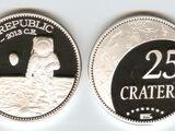 Lunar Republic 25 crater coin