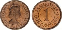 Mauritius 1 cent 1953