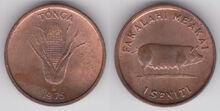Tonga 1 seniti 1975