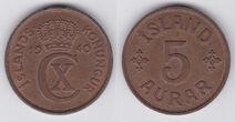Iceland 5 aurar 1940