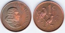 South Africa 1 cent 1966 af