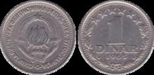 Yugoslavia 1 dinar 1965