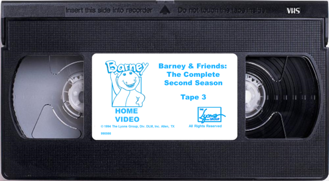 File:Barney & Friends The Complete Second Season Tape 3 (Renumbered).png