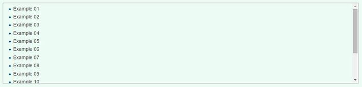Scrollbox Example