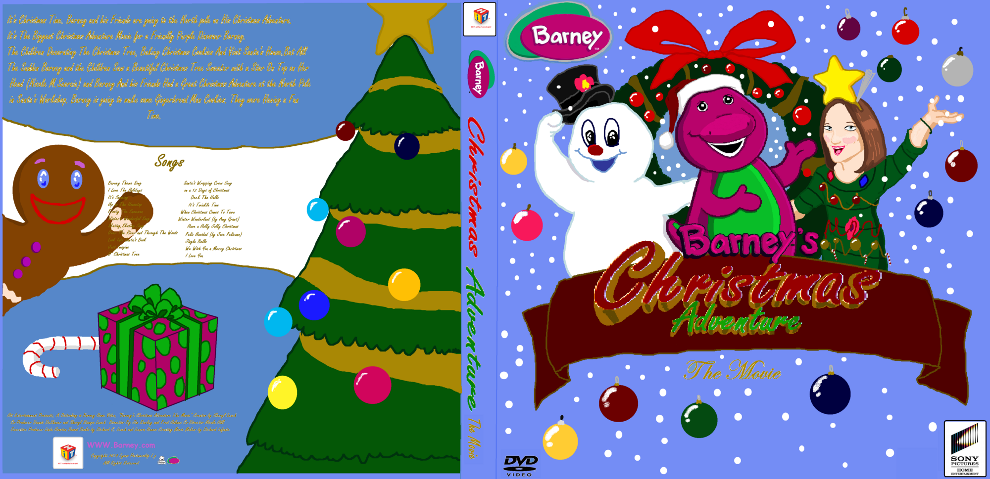Image - Barney\'s Christmas Adventure The Movie Cover.png | Custom ...