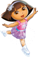Dora ice skater outfit