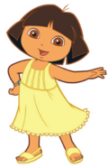 Dora spring outfit without hair band
