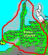 Kowamountainsonmap