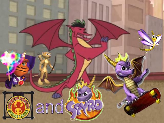 File:Spyro & American Dragon - Jake Long Crossover.png
