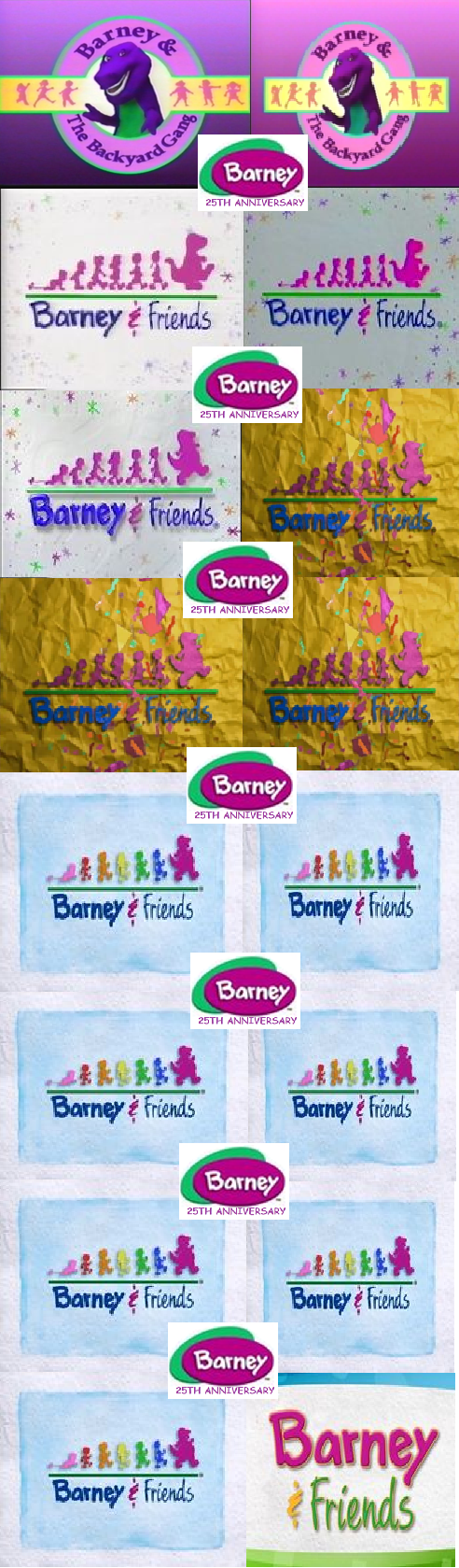 Barneys Th Anniversary Barney The Backyard Gang And Barney - Barney backyard gang concert vhs