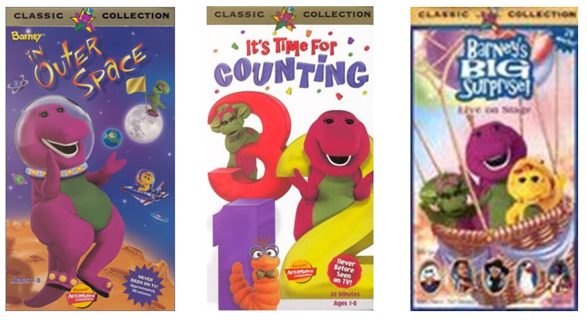 Trailers From Barney 1998 VHS (Triple Feature)