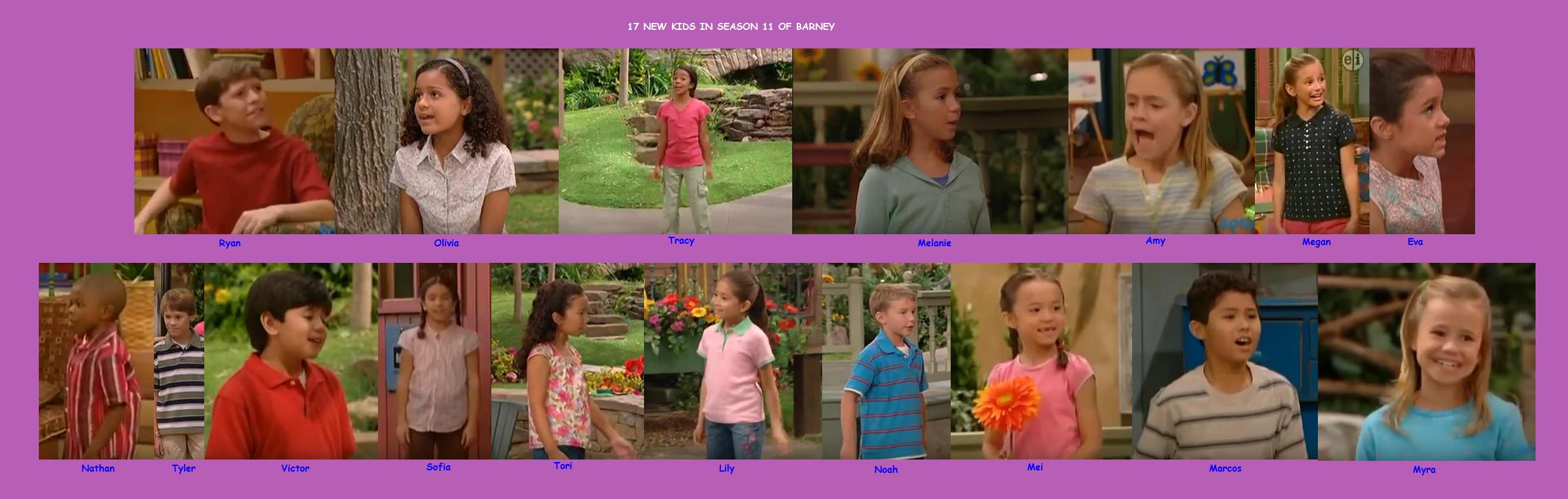 New Kids in Season 11 of Barney & Friends (battybarney2014\'s version ...