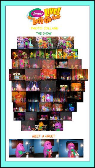 Barney Live! The Let's Go Tour Photo Collage