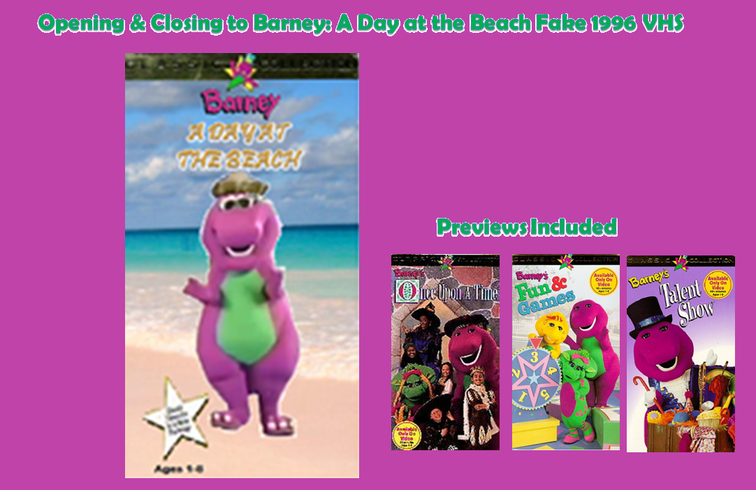 Opening and closing to barney a day at the beach 1996 vhs for Classic house songs 2000