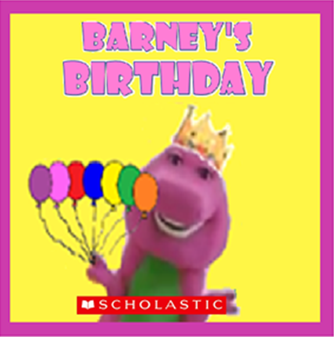 Barney And The Backyard Gang A Day At The Beach: Barney's Birthday (book) (battybarney2014's Version