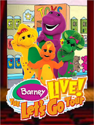Barney Live! The Let's Go Tour DVD Cover