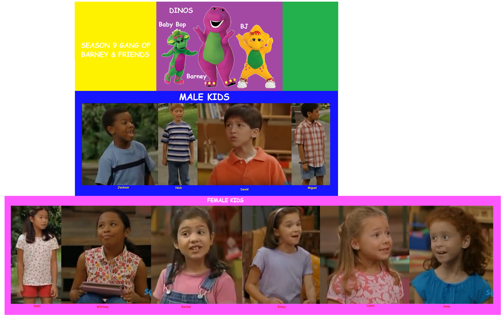 Season 9 Gang of Barney & Friends (battybarney2014\'s version ...